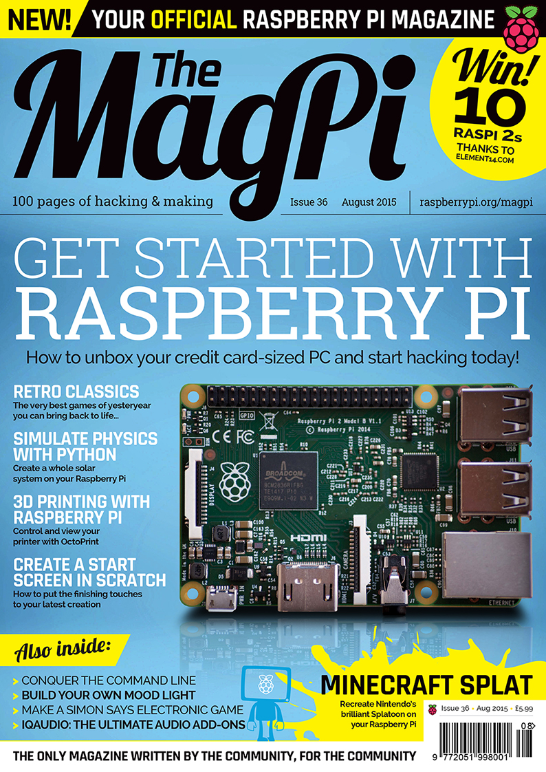 The MagPi Número 36 – Agost 2015