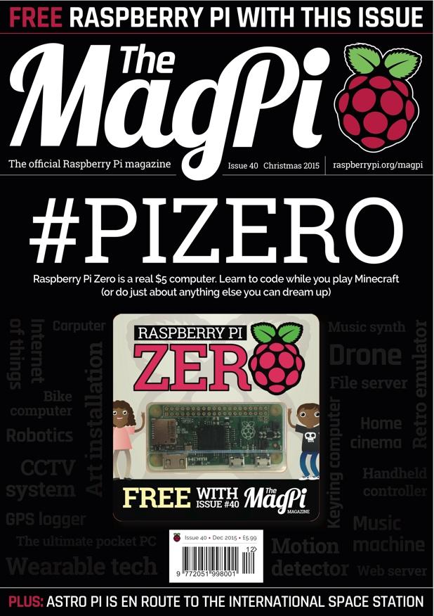 MagPi 40 – la primera revista que regala un ordinador!