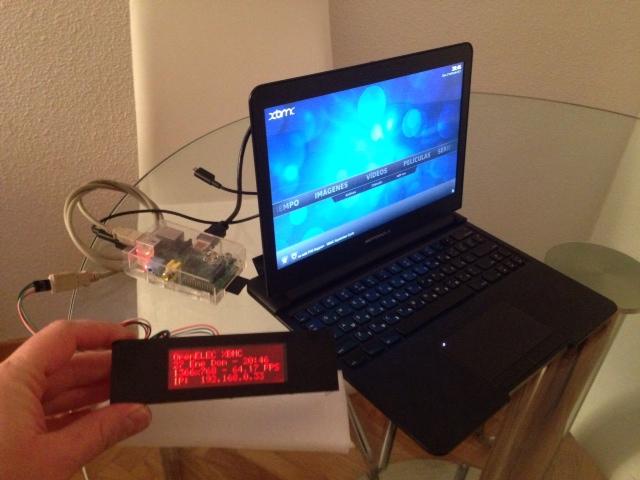 Afegir un display LCD per al Xbmc