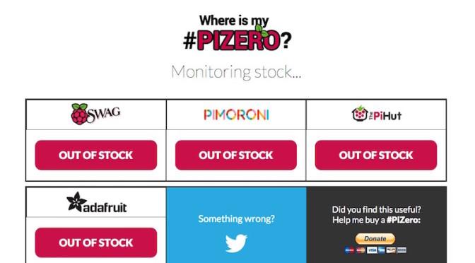 Where Is My Pi Zero? Comprova si hi ha estoc per aconseguir l'Impossible ordinador de 5$